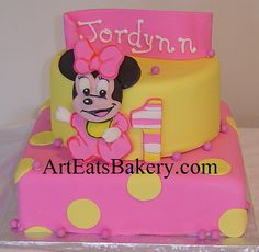 Minnie Mouse 1st Birthday | ... baby Minnie Mouse girl's 1st birthday cake | Flickr - Photo Sharing