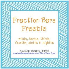 This freebie has 4 different options for printing fraction bars.