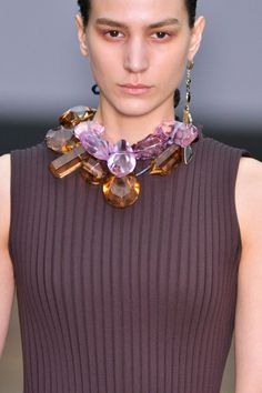 Céline Fall 2014 (wish I knew what these are - amethyst/citrine?)