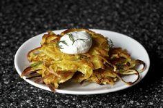 Potato-Parsnip Latkes with Horseradish and Dill from Smitten Kitchen
