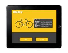 Tandem | A Bike Rental Service by Alex Garey, via Behance