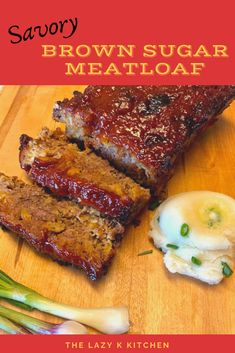 The secret to this meatloaf recipe is in the topping!  It's super simple, but so good!   . . . #dinner #meatloaf #dinnerrecipe #dinnerideas #meatloafrecipe #savorymeatloafrecipe #brownsugarmeatloaf