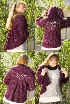 Heather on the Hill Crochet Bolero Pattern  in PDF download format.
