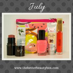 The July Box - The Better Beauty Box is a monthly beauty subscription service for teen girls. Each box contains natural, organic and non-toxic beauty and personal care items.