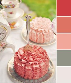 A pretty pink and gray wedding theme