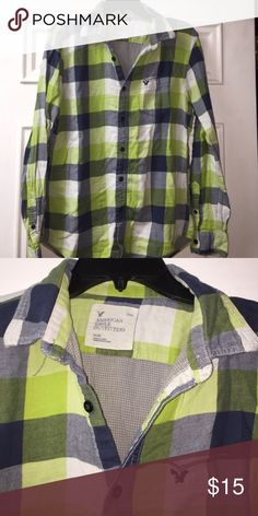 American Eagle flannel medium Good shape American Eagle Outfitters Shirts Casual Button Down Shirts