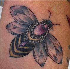 Jewel bee Draw n and tattooed by Sandi
