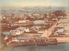 神戸俯瞰図/手彩色古写真