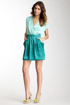 Vertigo Cap Sleeve V-Neck Dress by Assorted on @HauteLook