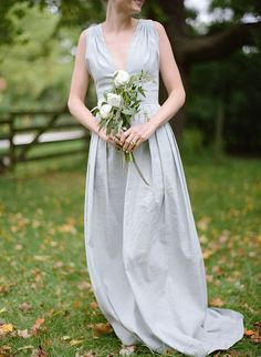 Bridesmaids' dresses: Made by the bride, Hillary Amber - English Inspired Milwaukee Wedding by Anna Page Photography - via ruffled