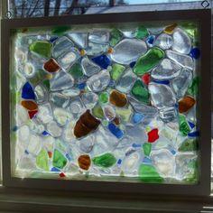 Beach Sea Glass Window Mosaic by