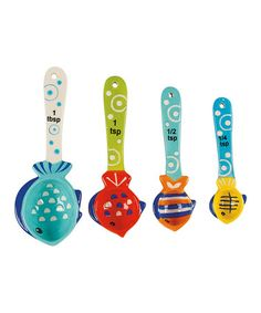 Take a look at this Something's Fishy Measuring Spoon Set by Boston Warehouse on #zulily today!