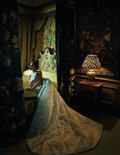 'From Lost to Found, From Contemporary to Traditional, From England to China… In the Eyes of Liu Wen' - model: Liu Wen - photographer: Sun Jun - stylist: Wilson Huang - hair & makeup: He Lei - location: Burghley House, Stamford, Lincolnshire, England -  Harper's Bazaar China December 2015Ermanno Scervino