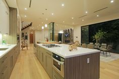 Impressive Laurel A Private Home Interior by Amit Apel Design: airy and cozy laurel home open plan kitchen dining and living spaces with woo. Open Plan Kitchen Dining, Living Spaces, Interior, Modern, Design, Home Decor, Indoor, Homemade Home Decor, Interieur