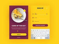 Sign Up by Alexandra Web Design, Form Design, App Ui Design, User Interface Design, Mobile Login, Sign Up Page, Mobile Ui Design, Music App, Ui Design Inspiration