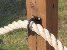 Heavy Duty Nautical Rope Fence Rings, Nautical Rope Holder, Bolt on Rings Rope Fence, Rope Railing, Deck Railings, Easy Fence, Nautical Rope, Nautical Style, Nautical Deck Ideas, Nautical Landscaping, Nautical Rings