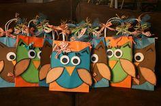 Cute owl gift bags.