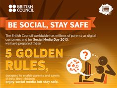 Parents want their children to reap benefits of social media but are often freaked out by the scary stuff. Here are five golden rules to keep kids safe. Social Media Safety, Web Safety, Safety Tips, Social Media Tips, Online Social Networks, Internet Safety, Social Business, Technology Integration, Social Media