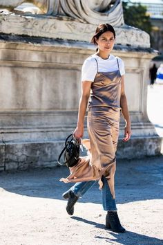 Embrace the dress over pants trend | fashion forward