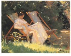 P.S.Krøyer. (23 July 1851 – 21 November 1909), known as P. S. Krøyer, was a Danish painter. He is one of the best known and beloved, and undeniably the most colorful of the Skagen Painters, a community of Danish and Nordic artists who lived, gathered or worked in Skagen, Denmark, especially during the final decades of the 19th century. Krøyer was the unofficial leader of the group. (Wikipedia)
