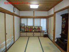 クリーム色の珪藻土で塗った和室壁。