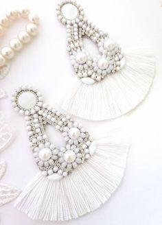 Rhinestone Earrings, Tassel Earrings, Statement Earrings, Stud Earrings, Bridesmaid Earrings, Wedding Earrings, Bridesmaid Gifts, Earrings Handmade, Handmade Jewelry