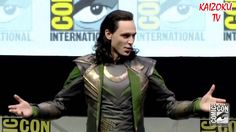 """Tom Hiddleston """"LOKI"""" en la Comic Con 2013 (full video at last!)  The guy screaming """"my wife loves you!"""" At the end is hilarious!!!!"""