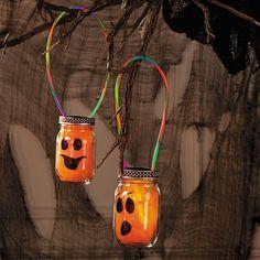 Pumpkin Glow Jars - OrientalTrading.com