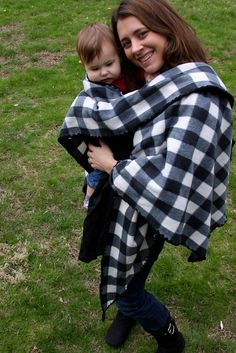 "How to make a baby wearing ""coat."" Easy, one-piece, tutorial using fleece fabric"