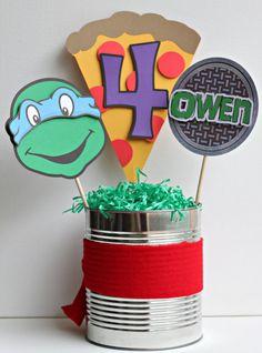 Cute centerpiece for your ninja turtle birthday party… Ninja Turtle Party, Ninja Turtles, Ninja Party, Turtle Birthday Parties, Ninja Turtle Birthday, 4th Birthday, Carnival Birthday, Birthday Ideas, Ninja Turtle Centerpieces