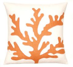 beach decor orange/w