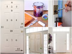 How to paint an interior door - practical tips and over 100 inspiring ideas The big trends in interior design have already been unveiled. On the program: the colorful entrance doors that are true decorative elements. Home Decor Painted Trays, Painted Doors, Bathroom Doors, Bathroom Medicine Cabinet, Honeycomb Tile, Basement Painting, Yellow Doors, Entrance Doors, Baseboards
