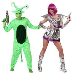 Costumes pour couples Cosmos - Extraterrestre et Astronaute femme #déguisementscouples
