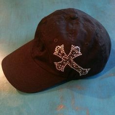 Black hat with cross New Accessories Hats