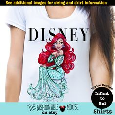 Ariel Vogue Shirt, Little Mermaid Vogue Shirt, Disney Vogue Shirt, Disney Princess Vogue Shirt by TheFashionableMouse on Etsy