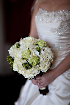 Elegant Black, Ivory and Green Real Wedding   OneWed