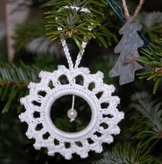 Christmas crochet ornament