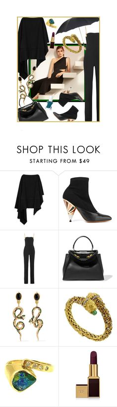 """Hint of Wild"" by cupcakecouturegirls ❤ liked on Polyvore featuring Lemaire, Givenchy, Antonio Berardi, Fendi, Diego Percossi Papi, Zolotas, Tom Ford and Essie"