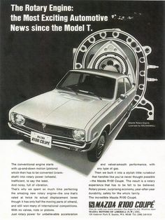 On April 25, 1970, the first Mazdas arrived in the US.    1970 Mazda R100 Coupe (USA) by IFHP97, via Flickr
