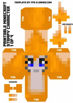 Stampy Cat - Large Minecraft Printable Stampy Character 1 of 4