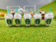 Set of 5 Starbucks Coffee Dollhouse Miniatures Food Supply Deco
