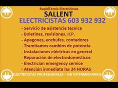 Electricistas SALLENT 603 932 932 Baratos