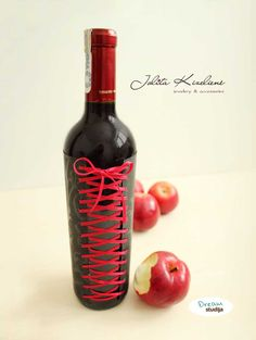 "Decorated wine bottle ""Sexy"". Nice gift for your beloved and with overtones :)"