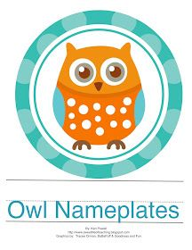 Classroom Freebies Too: Owl Nameplates