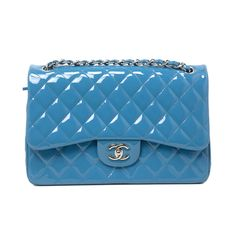 894b37fd5b24 Chanel Teal Quilted Patent Leather Jumbo Classic Double Flap - modaselle  Teal Quilt, Dust Bag