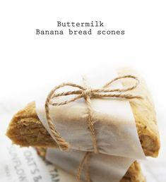 buttermilk banana bread scones - twigg studios