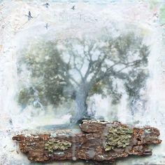 Mon arbre  Original peinture à l'encaustique par AngelaPetsisArt