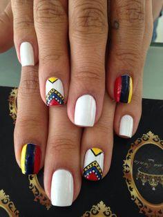 Selecion Colombia Football Nails, Nail Polish Art, Color Street Nails, Mani Pedi, Nail Care, Pretty Nails, Hair And Nails, Gel Nails, Finger