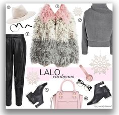 WInter outfit with cool wool coat by Lalo cardigan