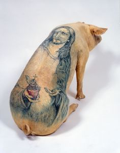 Wim Delvoye, Jesus Back, tattoed pig